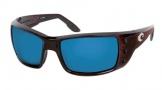 Costa Del Mar Permit Sunglasses Shiny Tortoise Frame Sunglasses - Green Mirror Glass/COSTA 400