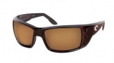 Costa Del Mar Permit Sunglasses Shiny Tortoise Frame Sunglasses - Amber / 580P