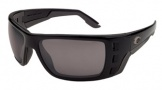 Costa Del Mar Permit Sunglasses Matte Black Frame Sunglasses - Gray / 580P