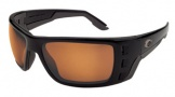 Costa Del Mar Permit Sunglasses Matte Black Frame Sunglasses - Amber / 580P