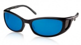 Costa Del Mar Pescador - Matte Black Frame Sunglasses - Blue Mirror Glass/COSTA 580