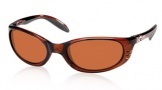 Costa Del Mar Stringer Sunglasses Shiny Tortoise Frame Sunglasses - Copper / 580P