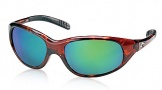 Costa Del Mar Wave Killer Sunglasses Shiny Tortoise Frame Sunglasses - Green Mirror Glass/COSTA 400