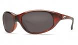 Costa Del Mar Wave Killer Sunglasses Shiny Tortoise Frame Sunglasses - Green Mirror Glass/COSTA 580