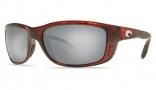 Costa Del Mar Zane Sunglasses - Shiny Tortoise Frame Sunglasses - Blue Mirror Glass/COSTA 580