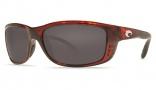 Costa Del Mar Zane Sunglasses - Shiny Tortoise Frame Sunglasses - Gray / 580P