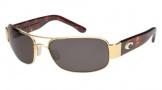 Costa Del Mar Placida - Gold Frame Sunglasses - Gray CR 39/COSTA 400
