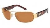 Costa Del Mar Placida - Gold Frame Sunglasses - Amber CR 39/COSTA 400