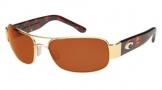 Costa Del Mar Placida - Gold Frame Sunglasses - Vermillion CR 39/COSTA 400