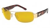 Costa Del Mar Placida - Gold Frame Sunglasses - Sunrise CR 39/COSTA 400