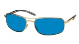 Costa Del Mar Seven Mile Sunglasses Gold Frame Sunglasses - Amber Glass/COSTA 400