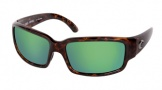 Costa Del Mar Caballito Sunglasses Shiny Tortoise Frame Sunglasses - Green Mirror Glass/COSTA 400