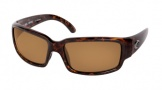 Costa Del Mar Caballito Sunglasses Shiny Tortoise Frame Sunglasses - Amber / 580P
