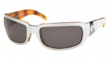 Costa Del Mar Cin - White Tortoise Frame Sunglasses - Gray Glass/COSTA 580