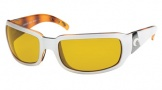 Costa Del Mar Cin - White Tortoise Frame Sunglasses - Sunrise Glass/COSTA 400