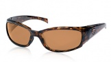 Costa Del Mar Hammerhead Sunglasses Shiny Tortoise Frame Sunglasses - Amber / 580P