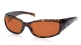 Costa Del Mar Hammerhead Sunglasses Shiny Tortoise Frame Sunglasses - Copper / 580P