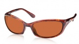 Costa Del Mar Harpoon Sunglasses Shiny Tortoise Frame Sunglasses - Copper / 580P