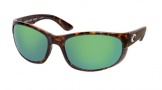 Costa Del Mar Howler Sunglasses Shiny Tortoise Frame Sunglasses - Green Mirror Glass/COSTA 400