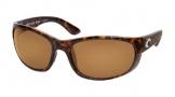 Costa Del Mar Howler Sunglasses Shiny Tortoise Frame Sunglasses - Amber / 580P