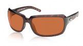 Costa Del Mar Isabela Sunglasses Shiny Tortoise Frame Sunglasses - Copper / 580P