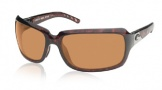 Costa Del Mar Isabela Sunglasses Shiny Tortoise Frame Sunglasses - Gray / 400G