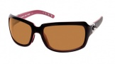 Costa Del Mar Isabela Sunglasses Black Coral Frame Sunglasses - Amber / 580P