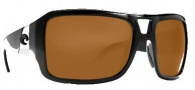 Costa Del Mar Lago Sunglasses- Shiny Black Frame Sunglasses - Dark Gray / 400P