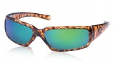 Costa Del Mar Rincon Sunglasses Shiny Tortoise Frame Sunglasses - Green Mirror Glass/COSTA 400