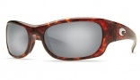 Costa Del Mar Rincon Sunglasses Shiny Tortoise Frame Sunglasses - Copper Glass/COSTA 580