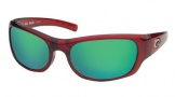 Costa Del Mar Riomar - Red Crystal Frame Sunglasses - Green Mirror Glass/COSTA 400