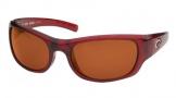 Costa Del Mar Riomar - Red Crystal Frame Sunglasses - Copper Glass/COSTA 580