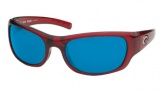 Costa Del Mar Riomar - Red Crystal Frame Sunglasses - Blue Mirror Glass/COSTA 580