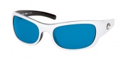 Costa Del Mar Riomar - White-Black Frame Sunglasses - Blue Mirror Glass/COSTA 400