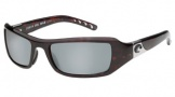 Costa Del Mar Santa Rosa Sunglasses Shiny Tortoise Frame Sunglasses - Gray Glass/COSTA 580