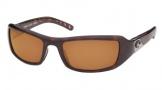 Costa Del Mar Santa Rosa Sunglasses Shiny Tortoise Frame Sunglasses - Amber / 580P