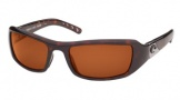 Costa Del Mar Santa Rosa Sunglasses Shiny Tortoise Frame Sunglasses - Copper / 580P
