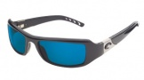 Costa Del Mar Santa Rosa Sunglasses Shiny Black Frame Sunglasses - Green Mirror Glass/COSTA 400