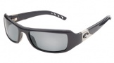 Costa Del Mar Santa Rosa Sunglasses Shiny Black Frame Sunglasses - Gray Glass/COSTA 580