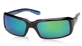 Costa Del Mar Switchfoot Sunglasses Shiny Black Frame Sunglasses - Gray Glass/COSTA 400
