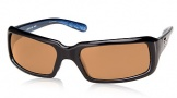 Costa Del Mar Switchfoot Sunglasses Shiny Black Frame Sunglasses - Amber CR 39/COSTA 400