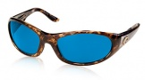 Costa Del Mar Swordfish - Shiny Tortoise Frame Sunglasses - Blue Mirror Glass/COSTA 580