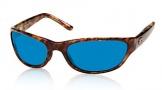 Costa Del Mar Triple Tail Sunglasses Shiny Tortoise Frame Sunglasses - Green Mirror Glass/COSTA 400