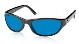 Costa Del Mar Triple Tail Sunglasses Shiny Black Frame Sunglasses - Amber Glass/COSTA 400