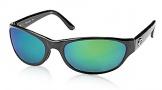 Costa Del Mar Triple Tail Sunglasses Shiny Black Frame Sunglasses - Copper Glass/COSTA 580