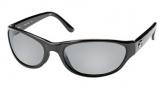Costa Del Mar Triple Tail Sunglasses Shiny Black Frame Sunglasses - Gray Glass/COSTA 580
