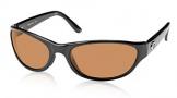 Costa Del Mar Triple Tail Sunglasses Shiny Black Frame Sunglasses - Amber / 580P