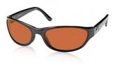 Costa Del Mar Triple Tail Sunglasses Shiny Black Frame Sunglasses - Copper / 580P