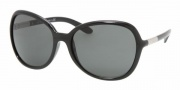 Prada PR 25LS Sunglasses Sunglasses - Gloss Black/Gray (1AB1A1)