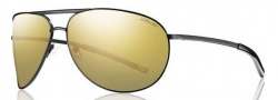 Smith Serpico Sunglasses Sunglasses - Matte Black / Polarized Gold Mirror